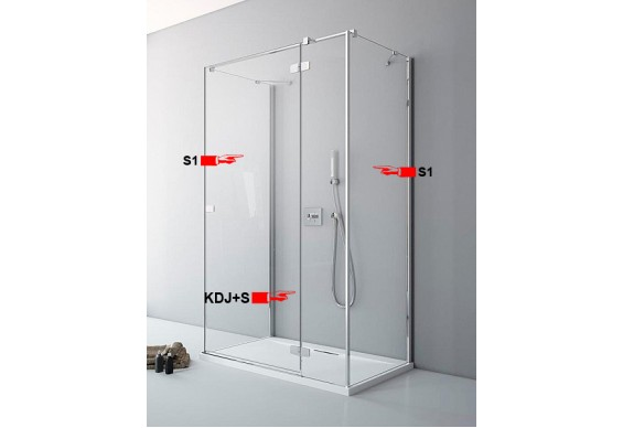 Двері для П-подібної душової кабіни Radaway Fuenta New KDJ+S S 110 праві (384023-01-01R)