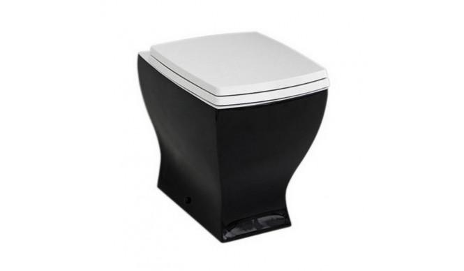 Підлоговий унітаз ArtCeram Jazz, black white (JZV0020150)