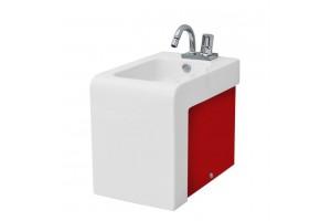 Підлогове біде ArtCeram La Fontana, red white (LFB0040151)