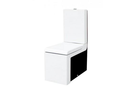 Унітаз моноблок ArtCeram La Fontana, black white (LFV0030150)