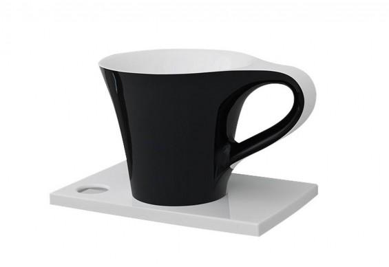 Умивальник на стільницю ArtCeram Oneshot cup, black white (OSL0050150)