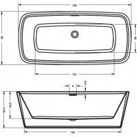 Ванна Riho Admire 180x84 см (BD03)