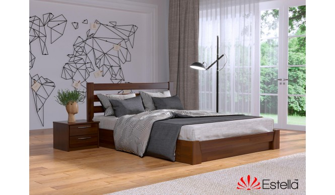 Двоспальне ліжко Естелла Селена 160x190 буковий щит (EST-67)