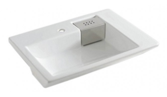 Умивальник на стільницю ArtCeram Fuori schema semincasso, white (TFL0090100)