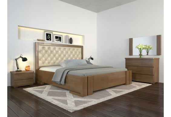 Двоспальне ліжко Арбор Древ Амбер ромб 180х200 бук (DA180)