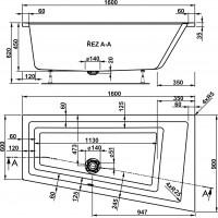 Ванна Vagnerplast Cavallo Offset 160x90 см, права (VPBA169CAV3PX-01)