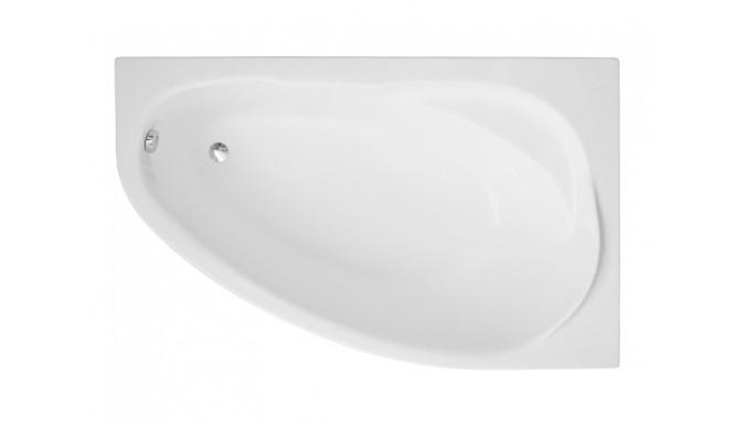 Ванна Polimat Marea асиметрична 160х100, R + ніжки (00532)