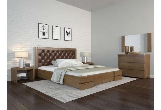 Двоспальне ліжко Арбор Древ Регіна Люкс з підйомним механізмом ромб 180х200 бук (HD180)