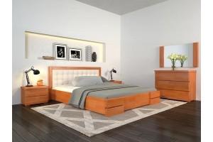 Двоспальне ліжко Арбор Древ Регіна Люкс з підйомним механізмом 180х190 бук (RLB180.2)