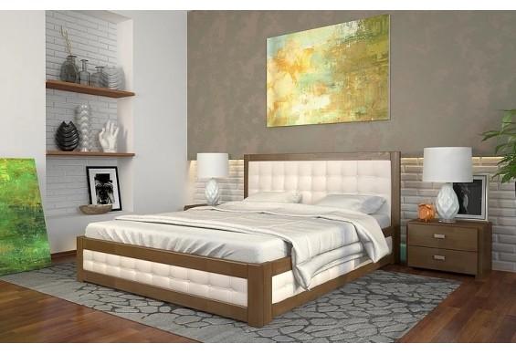Двоспальне ліжко Арбор Древ Рената М з підйомним механізмом 160х190 бук (RMB160.2)