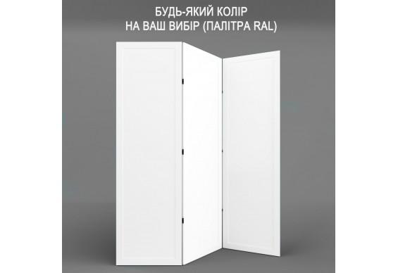 Ширма ДекоДім Економ на 3 секції 150х170 см, будь-який колір RAL (EF11-09)