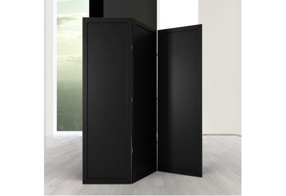 Ширма ДекоДім Економ на 3 секції 180х170 см, чорна (EBL-5)
