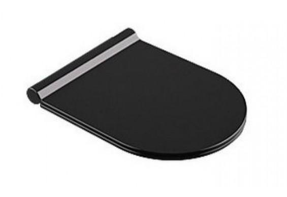 Сидіння soft-close з кришкою для унітазу Catalano, nero lucido (5SCSTPNNE)