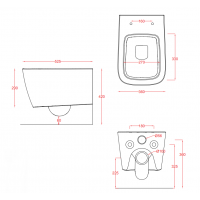 Підвісний унітаз ArtCeram A16, matt white (ASV0010500)