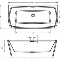 Ванна Riho Adore 180x86 см (BD04)
