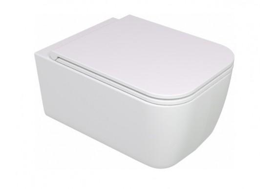 Підвісний унітаз GSG BRIO 52,5 см Smart Clean white matt (BRWCSO001)