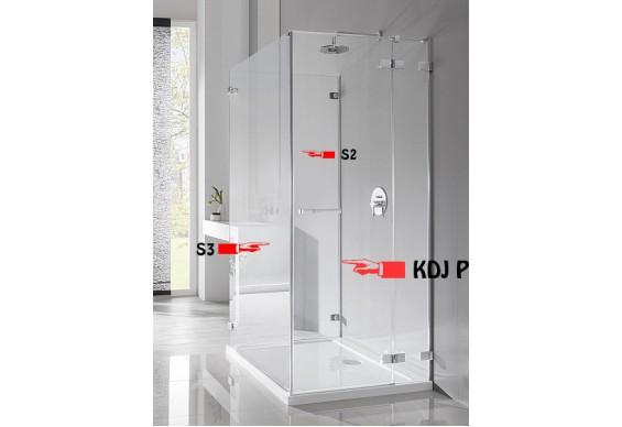 Бокова Стінка для душової кабіни Radaway Euphoria S2 80 (383031-01)