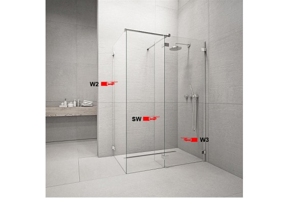 Бокова Стінка для душової кабіни Radaway Euphoria W2 90 (383121-01-01)