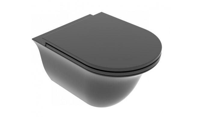 Підвісний унітаз GSG Flut 52,5 см Smart Clean matt Black (FLWCSO003)