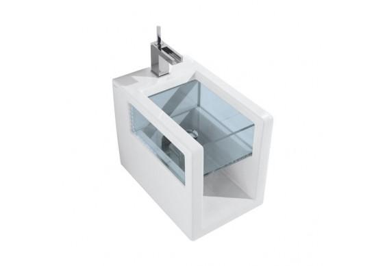 Підлогове біде GSG GLASS 53 см white glossy (GLBI01000)