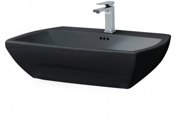 Підвісний умивальник ArtCeram Jazz, glossy black (JZL0050300)