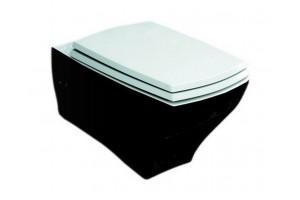 Підвісний унітаз ArtCeram Jazz, black white (JZV0010150)