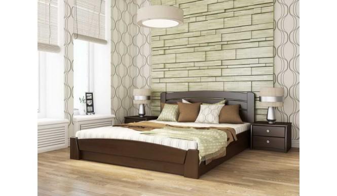 Двоспальне ліжко Естелла Селена Аурі з підйомним механізмом 120х190 буковий щит (DV-25.2)