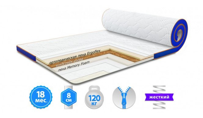 Футон Sleep&Fly Memo 2 в 1 Kokos Стрейч 150x190 см (3003781501909)