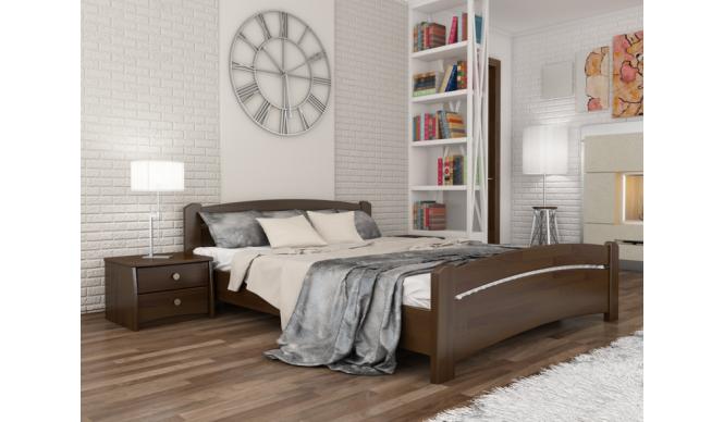 Односпальне ліжко Естелла Венеція 120х200 буковий масив (OL-06)
