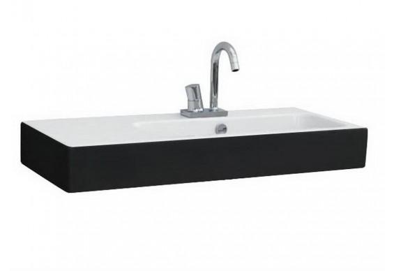 Підвісний умивальник ArtСeram Block, black white (BKL0020150)