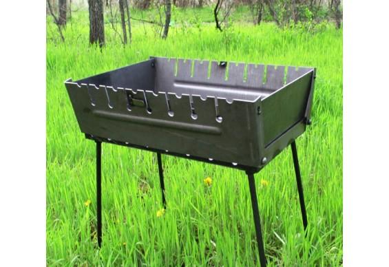Мангал - чемодан ДекоДім на 10 шомпурів (SH-PA-24)