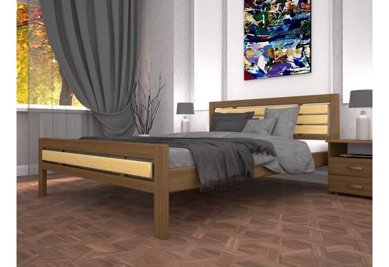 Двоспальне ліжко ТИС Модерн 1 160x200 дуб (TYS354)