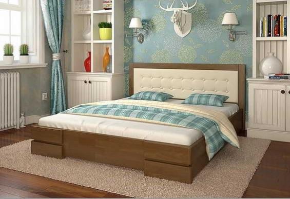 Двоспальне ліжко Арбор Древ Регіна 160х200 бук (DB160)