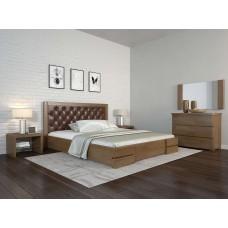 Двоспальне ліжко Арбор Древ Регіна Люкс ромб 140х190 сосна (RDL140.2)