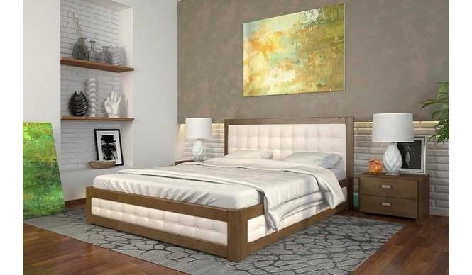 Двоспальне ліжко Арбор Древ Рената М з підйомним механізмом 160х200 сосна (RMS160)