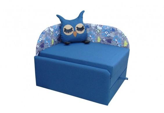 Дитячий диван ТМ Віка Сова, кут 7 синій (VK022)