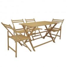 Стіл Парма + 4 розкладних стільця Амстор (BS-15)