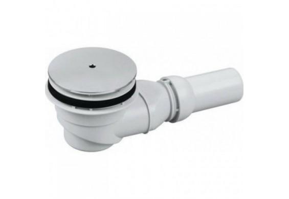 Сифон для душової кабіни Sanit, злив Ø 90 мм, хром (34.045.00.0000)