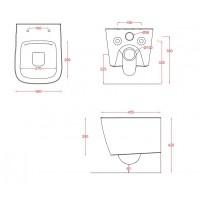 Підвісний унітаз ArtCeram A16 mini, glossy white (ASV0050300)