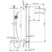 Душова система Huber Cascade з термостатичним змішувачем і душовою лійкою (CR C78020 21)