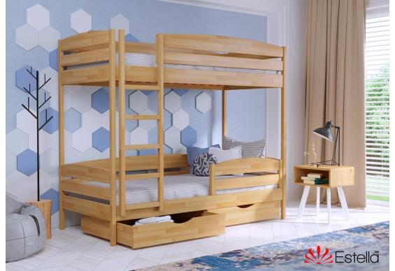 Двоярусне ліжко Естелла Дует Плюс 80х200 буковий щит (DEPL-012)