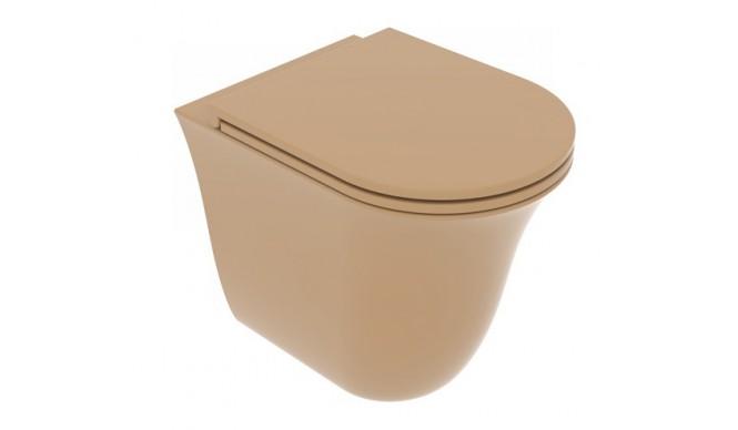 Унітаз підлоговий GSG Flut 52,5 см Smart Clean matt Chestnut (FLWC01017)
