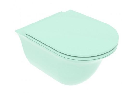 Підвісний унітаз GSG Flut 52,5 см Smart Clean glossy Water (FLWCSO024)
