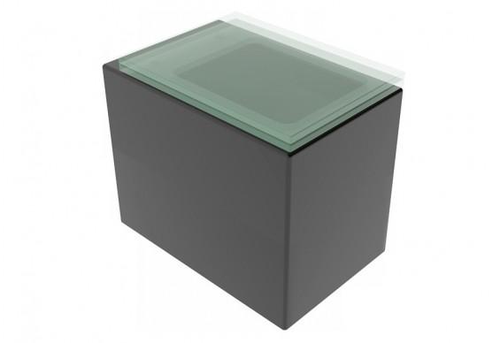 Підлоговий унітаз GSG GLASS 53 см matt Black (GLWCSO003)