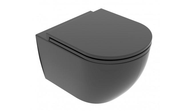 Підвісний унітаз GSG LIKE XXS 48,5 см Smart Clean matt Black (LKWCSOXXS003)