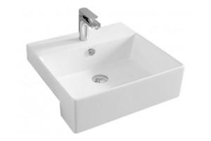 Умивальник на стільницю ArtCeram Quadro 50 semincasso, white (QUL0040100)