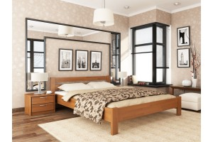 Односпальне ліжко Естелла Рената 90х190 буковий щит (OL-20.2)