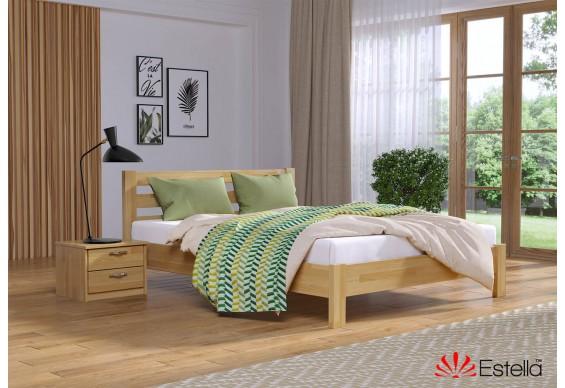 Двоспальне ліжко Естелла Рената Люкс 140x190 буковий щит (EST-13)