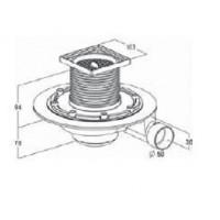 Компактний душовий трап для монтажу в підлогу Radaway Turbosol 10x10 (TBS19)