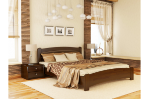 Двоспальне ліжко Естелла Венеція Люкс 160х200 буковий масив (DV-17)
